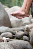 Подросток на горе Стоковое Изображение