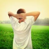 Подросток на поле Стоковое Изображение RF