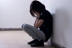 подросток несчастный Стоковая Фотография RF