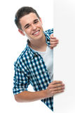 Подросток держит пустую доску Стоковая Фотография
