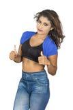 Подросток Srilankan thumbs вверх Стоковое Изображение