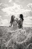 2 подруги в поле Стоковое Фото