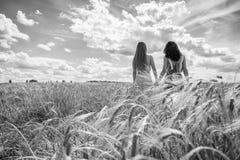 2 подруги в поле Стоковые Фотографии RF