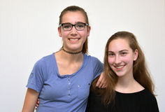 Подруги подростка стоковое изображение rf