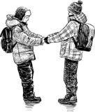 Подруги по школе Стоковые Фото