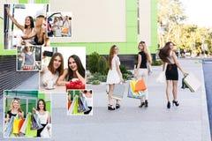 Подруги с хозяйственными сумками Стоковое Изображение