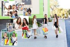 Подруги с хозяйственными сумками Стоковая Фотография RF