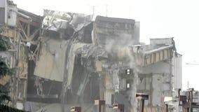 Подрывание здания сток-видео