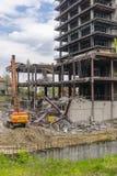 Подрывание здания Стоковая Фотография