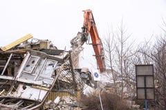 Подрывание старого здания фабрики - Польша Стоковые Изображения RF