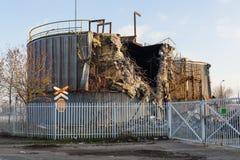 Подрывание старого здания фабрики Стоковые Изображения RF