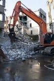 Подрывание старого здания стоковое изображение
