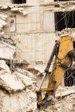 Подрывание старого здания Стоковое Фото