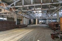 Подрывание старого химического завода и конструкции n Стоковые Фотографии RF