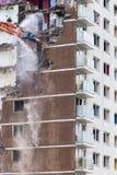 Подрывание центра города высокого здания подъема Стоковые Фотографии RF