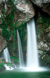 Под святой пещерой Covadonga Стоковые Изображения RF