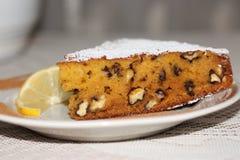 Подсказка куска пирога грецкого ореха тыквы Стоковое Изображение RF
