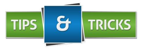 Подсказки и горизонтальная фокусов зеленая голубая иллюстрация штока