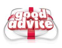 Подсказки помощи спасательного жилета слов хорошего совета непредвиденные Стоковое Изображение RF