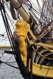 Подставное лицо на высокорослом фрегате француза корабля Стоковое Фото