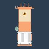 Подстанция трансформатора Стоковое Изображение