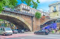 Под сухим мостом в Тбилиси Стоковые Фото