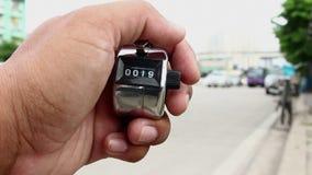 Подсчитывать автомобили с встречной машиной clicker видеоматериал