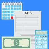 Подсчитывать вектор налогов Стоковая Фотография