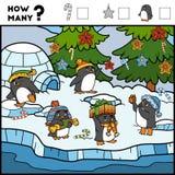 Подсчитывать игру для детей Воспитательная игра пингвины бесплатная иллюстрация