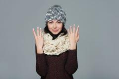 Подсчитывать руки - 8 пальцев Стоковая Фотография RF