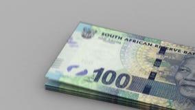 Подсчитывать южно-африканские ранды иллюстрация штока
