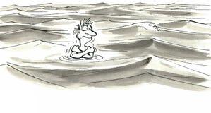 По течению Стоковое Изображение