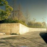 Полуночная дорога кампуса выдержки выдержка длиной Стоковая Фотография