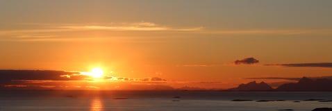 Полуночное солнце Стоковое Изображение RF