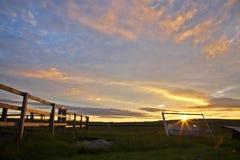 Полуночный восход солнца Стоковое фото RF