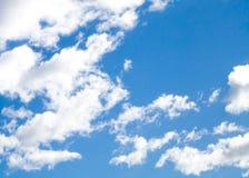 Полуокружность облаков humilis кумулюса хорошей погоды Стоковые Изображения