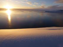 Полуостров Антарктика Митчела рассвета Стоковое Фото