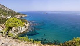 Полуостров Akamas в Кипре Стоковые Изображения RF