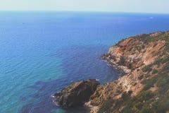 Полуостров Fiolent Крыма накидки Стоковые Изображения