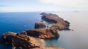 Полуостров Lourenco Sao, Мадейра, вид с воздуха Стоковая Фотография RF