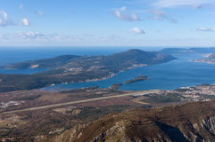 Полуостров Lustica и Boka Kotorrska Черногория Стоковые Фотографии RF