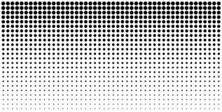 Полутоновое изображение градиента ставит точки предпосылка, горизонтальный шаблон используя картину точек полутонового изображени Стоковые Фото