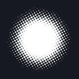 Полутоновое изображение поставило точки предпосылка вектора абстрактная, точечный растр в форме круга Белый шуточный изолированны Стоковые Изображения RF