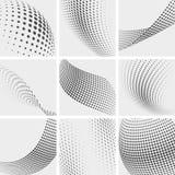 Полутоновое изображение ставит точки, группа указывая абстрактные предпосылки вектора бесплатная иллюстрация