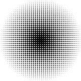Полутоновое изображение ставит точки радиальная предпосылка черно-белая Стоковое Изображение