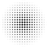 Полутоновое изображение любит элемент крестов Однокрасочное абстрактное изображение бесплатная иллюстрация