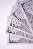 Подутый 100 долларовым банкнотам Стоковое Изображение RF