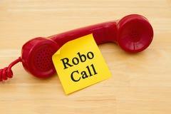 Получать звонок от Robocall стоковые изображения
