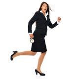 Получать поздно - бизнес-леди Стоковое фото RF