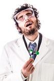 Получать чувствующий головокружение с хлороформом Стоковые Фотографии RF